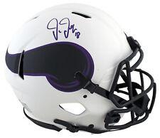 Vikings Justin Jefferson Signed Lunar Full Size Speed Proline Helmet BAS Witness