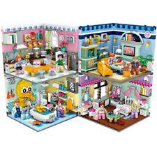 Bausteine Bau LOZ Spielzeug Kreative Street View Home Decor Indoor Szene OVP 4pc