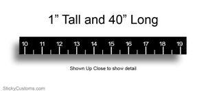 "40"" Black Fishing Ruler Sticker Measuring Tape Fish Boat Decal Kayak Measure Yak"