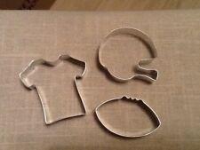 Football Gear Cookie Cutters, Set of 3, Football, Helmet, Shirt