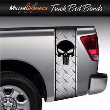 Punisher Skull Diamond Plate Truck Bed Band Stripe Decal Graphic Sticker Kit