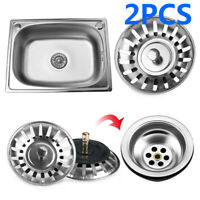 1/2PCS 8CM Stainless Steel Kitchen Sink Strainer Waste Plug Filter Drain Stopper
