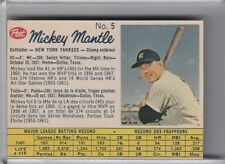 1962 POST CEREAL CANADIAN #5 MICKEY MANTLE NEW YORK YANKEES HOF 7237