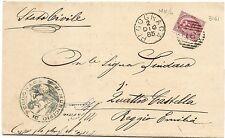 P4431    Mantova, PEGOGNAGA numerale a sbarre 1885