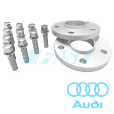 Audi Spacers Hub Centric 15mm | 5x112, 66.56 | 2 Pc Kit Chrome Conical Bolts
