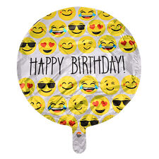 Happy Birthday Emoji Mylar Balloons Yellow Happy Faces Party Supplies NT