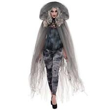 Adult Zombie Grey Witch Footless Tights Fancy Dress Halloween Party Fright Night