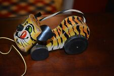 """FISHER PRICE PUSH / PULL TOY """"TAWNY TIGER """" # 654 RELEASED IN 1962 - 1963"""