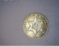 1861 Three Cent Silver Civil War Year ( # 15-82 ) 498,000 Minted
