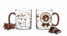 6 tazas de café 300ml Café House impresión café con leche Latte Macchiato GAFAS