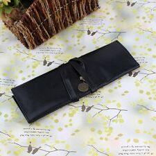 New PU Leather Cosmetic Make up Brush Bag Case Pen Pencil Pouch Stationery Purse