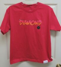 Diamond Supply Co. Diamond Horns Logo Graphics Red Boys  L T-Shirt NWOT