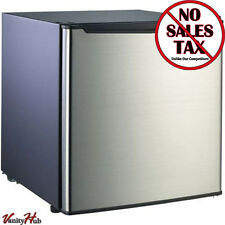 Small Refrigerator Dorm Fridge 1.6 cu ft Office Compact Room Beer Cooler Steel