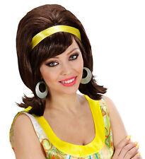 Amy 60er Jahre Parrucca marrone con fascia-capelli NUOVO - CARNEVALE CAPELLI