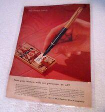 Antique Original Parker 51 Fountain Pen Paper Ad (R.# A282)