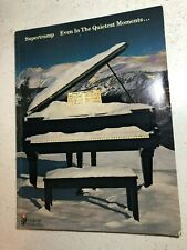 SUPERTRAMP Even In The Quietest Moments... Songbook - Sheet Music - Song Book