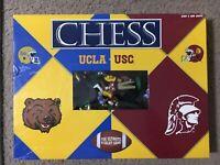 3D UCLA vs USC Chess Set California Rivals Bruins vs Trojans Incomplete But Nice