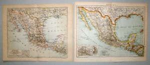Mexico, Mexiko - Konvolut, Sammlung - 3 Karten 1890-1902 - Lithograpie