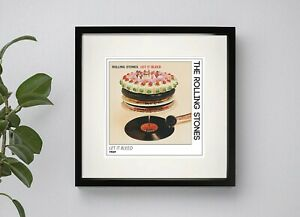 THE ROLLING STONES  - LET IT BLEED   BOXED PRINT 37CM sq ARTWORK