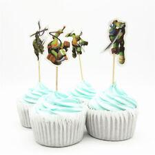24 x Teenage Mutant Ninja Turtles Cupcake Topper TMNT Decoration Birthday Party