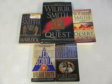 BIG Lot (5) WILBUR SMITH Books EGYPTIAN SERIES NEAR COMPLETE Warlock, River God