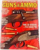 Vintage GUNS & AMMO Magazine January 1967 The .22 Sixgun