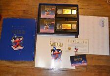 Disney Fantasia Deluxe Collectors Edition Box Set 2 VHS Lithograph 2 CD Book