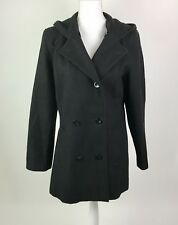 Women's Black Hooded Peacoat Size Small