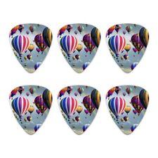 Hot Air Balloons Sky Roads Novelty Guitar Picks Medium Gauge - Set of 6
