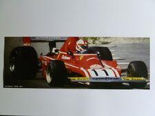 1974 Ferrari 312 B3 Clay Regazzoni Formula 1 Race Car Print, Picture RARE!! L@@K