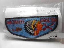 WAZHAZEE LODGE 366 LIGHTER ORANGE FACE BORDER ENDS TOP RIGHT  F4156