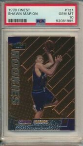 Shawn Marion Rookie RC 1999 Topps Finest Basketball #121 PSA 10 Suns