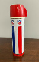 Vintage NFL Universal Vacuum Products Tall Thermos Bottle Quart Size Football