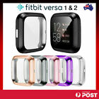 Soft TPU Silicone Shell Full Case Cover Screen Protector for Fitbit Versa 1 2 3