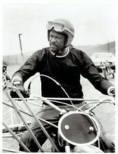 1972 Vintage Photo Celtics Bill Russell on motorcycle American Sportsman TV Show
