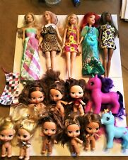 Lot 15 bratz babyz Dolls barbie and 2 my little ponies clothes little mermaid