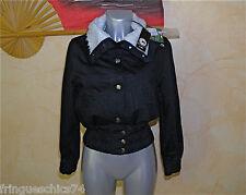 veste courte en jeans noir KANABEACH suzanne TAILLE 1 NEUF ÉTIQUETTE  valeur 99€