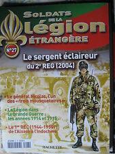 FASCICULE 27 LEGION ETRANGERE sergent eclaireur 2èREG 2004