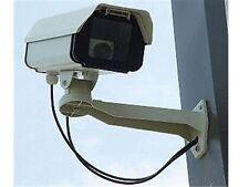 DUMMY SECURITY CAMERA - LARGE COMMERCIAL CCTV  - QUALITY HOUSING & BRACKET