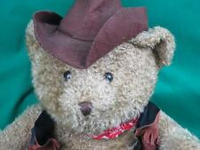 BIG SNUGGLE TOYS TEXAS COWBOY TEDDY BEAR WESTERN DRESSED BELT BUCKLE HAT PLUSH