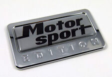 Motor sport Edition Chrome Emblem with domed decal motorcycle bike