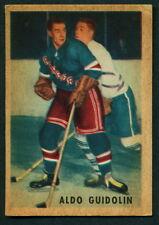 1953 54 PARKHURST HOCKEY 66 ALDO GUIDOLIN EX-NM NEW YORK N Y RANGERS CARD