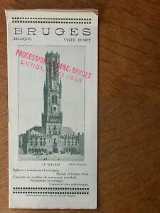 Bruges Procession St Sang Belgique Vieux papier Beffroi