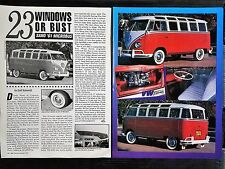 1961 Volkswagon VW 23 Window Microbus - 2 Page Original Article - Free Shipping