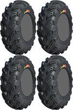 Four 4 GBC Dirt Devil ATV Tires Set 2 Front 25x8-12 & 2 Rear 25x12-9