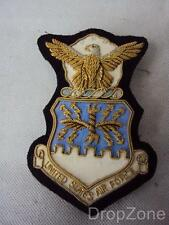 USAF US Air Force Bullion Wire Blazer Badge, New Old Stock