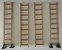 Playmobil Ladders X4 Accessories Brown Vintage Long Original Parts