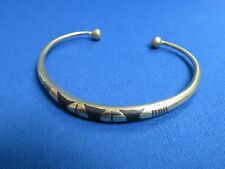 NIGER African Ethnic Jewelry Tuareg Silver ROUND  BRACELET SLIGHT GOLD TONE B