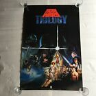 "Star Wars TRILOGY 25 1/2"" x 28"" CBS FOX Video Poster 1990 original vintage"