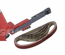 Pack of 5 Sanding Belts for Finger File Belt Sander 10 x 330 mm resin bonded